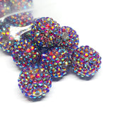 Jumbo Beads - Big Sparkle Rainbow Disco Beads - 10 Pieces