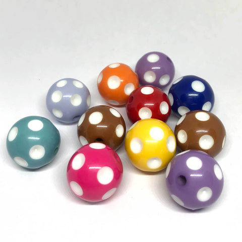 Jumbo Beads - PokeADot Beads - 10 Pieces