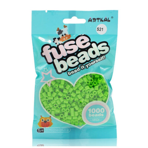 Midi Fuse Beads - Artkal Fuse Beads - Neon Green 1000 Beads
