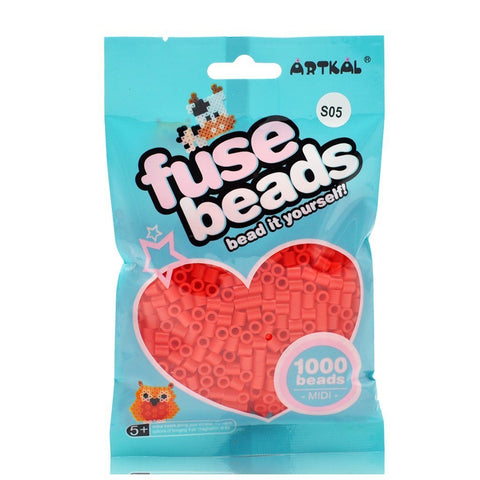 Midi Fuse Beads - Artkal Fuse Beads - Red 1000 Beads