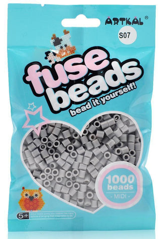 Midi Fuse Beads - Artkal Fuse Beads - S07 Gray 1000 Beads