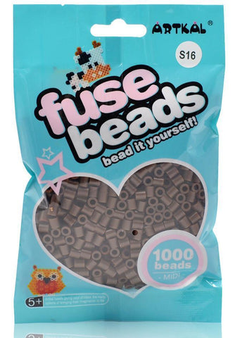 Midi Fuse Beads - Artkal Fuse Beads - S16 Brown 1000 Beads