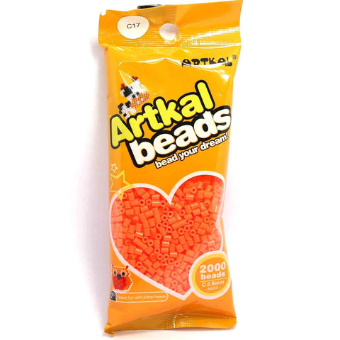 Midi Fuse Beads - Artkal Mini C17 - Orange C-2.6mm