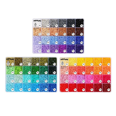 Mini Fuse Beads - 72 Colors Box Set C-2.6mm Mini Artkal Beads
