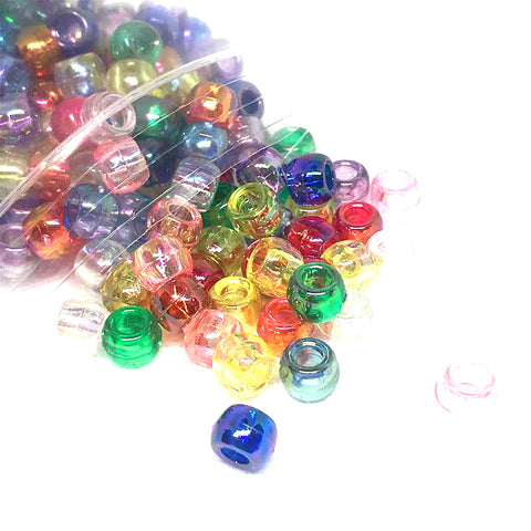 Transparent Pearl Beads Assorted - 300 pack - Kandi Beads