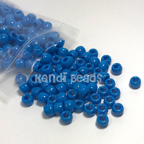 Pony Beads - Blue Pony Beads Opaque - 300 Pack