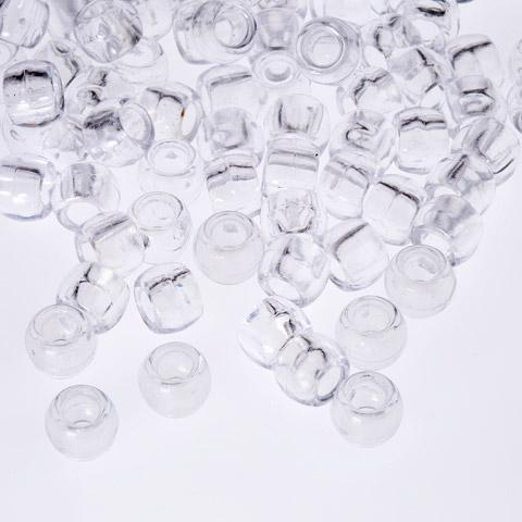 Pony Beads - Clear Pony Beads - 300 Pack