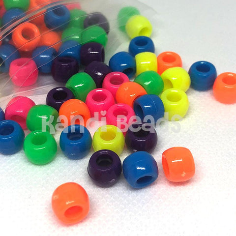 Pony Beads - Neon Pony Beads Mix - 350 Pack