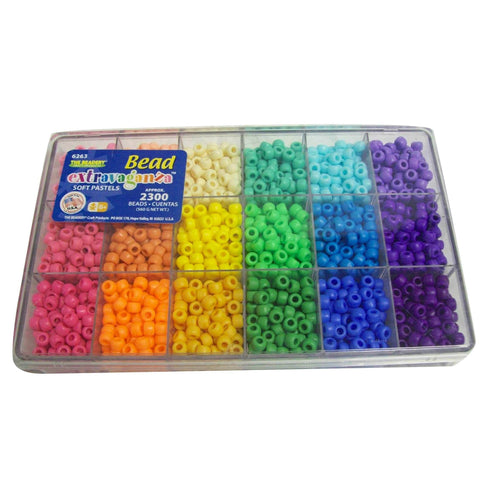 Pony Beads - Pony Bead Extravaganza Soft Pastels - 2300 Beads