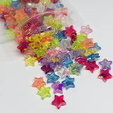 Star Beads - Iridescent Star Beads - 100 Pieces