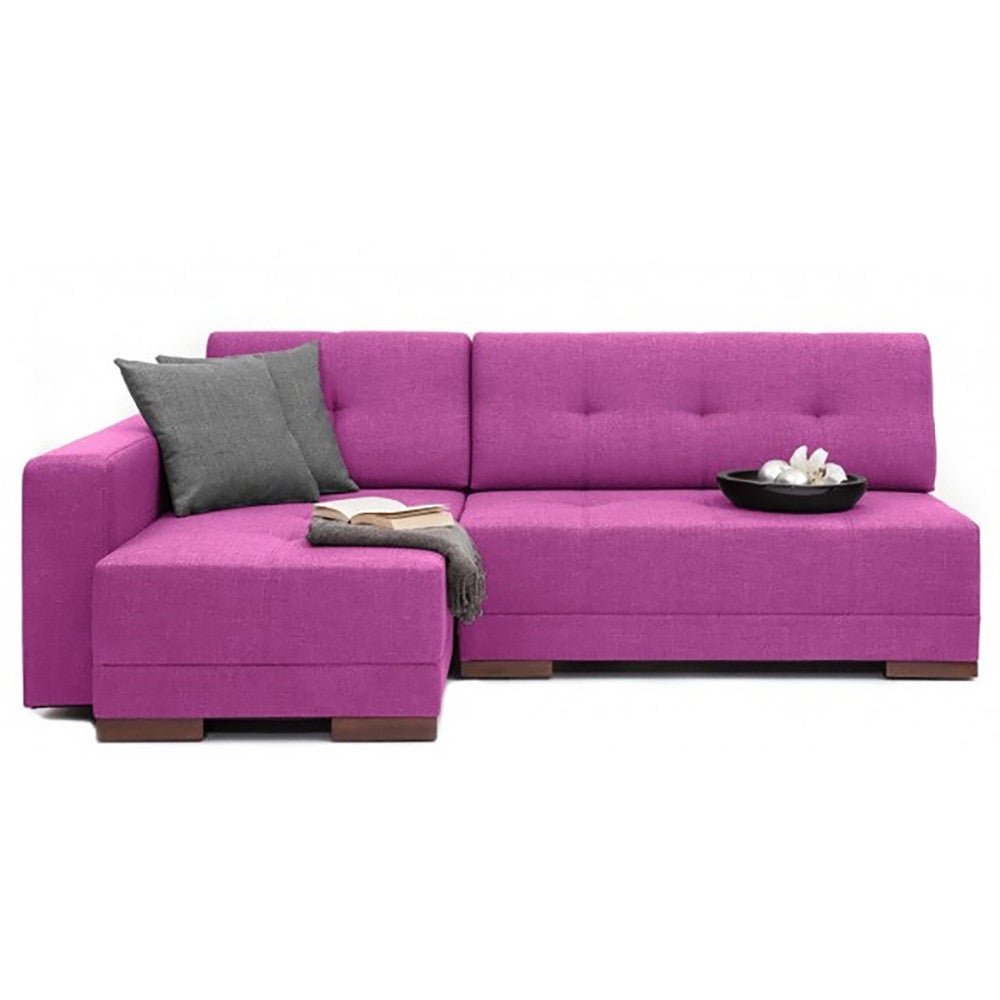 Corner Left Sectional Sofa Bed  sc 1 st  The Smart Sofa : purple sectional sofa - Sectionals, Sofas & Couches