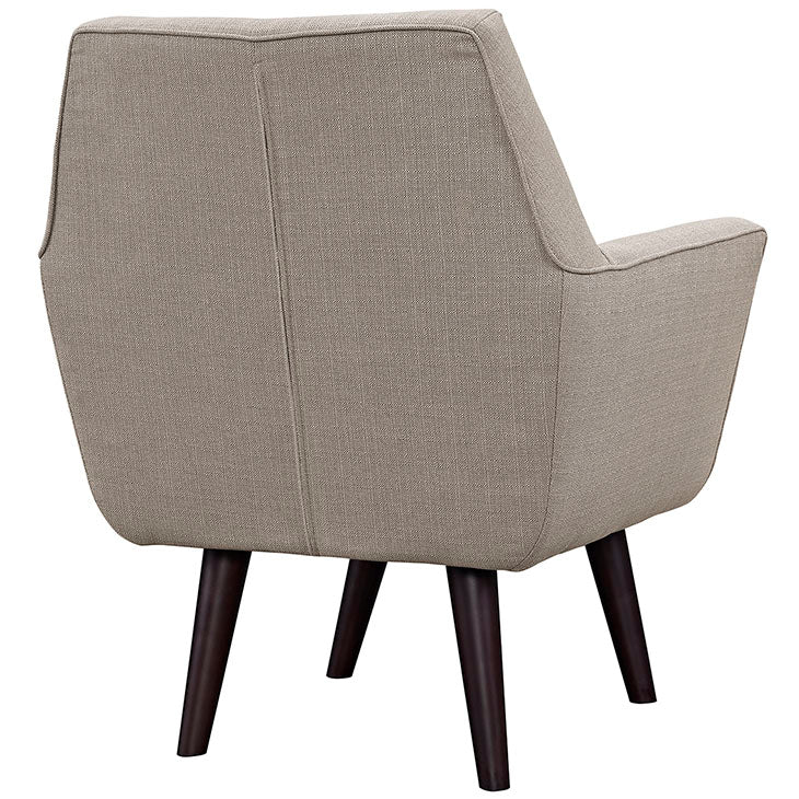 Hexagon Upholstered Arm Chair