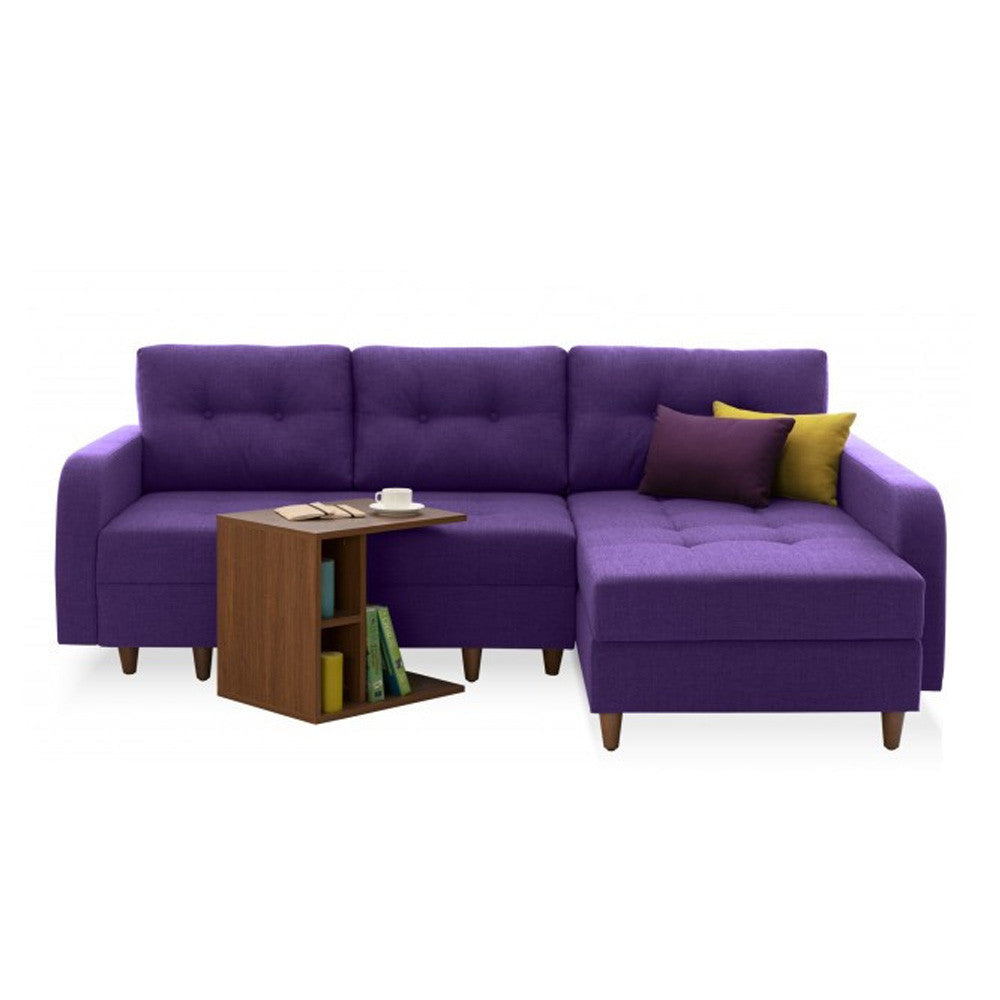 Empire Right Sectional Sofa Bed with Storage  sc 1 st  The Smart Sofa : purple sectional couch - Sectionals, Sofas & Couches