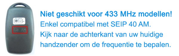 Seip RC-AM-40 compatibiliteit