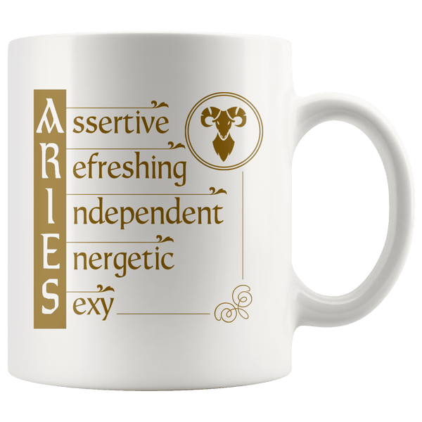 Aries Zodiac Coffee Mug - Constellation Coffee Cup - Great Gift For Horoscope Lover - SPCM