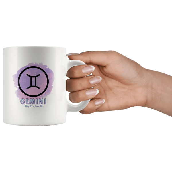 Gemini Coffee Mug - Gemini Constellation Coffee Cup - Zodiac Gifts For Horoscope Lover Born in May or June - SPCM