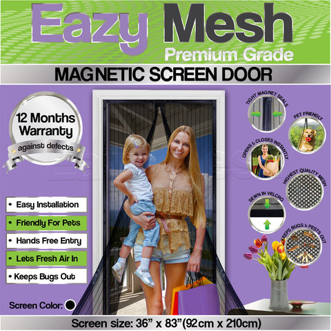 Premium Quality Magnetic Screen Door To Keep Bugs Out