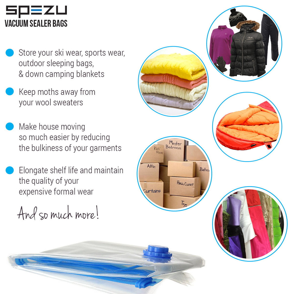 Vacuum Space Saver Bags - Reusable Sealer Storage Bags with Durable Compression
