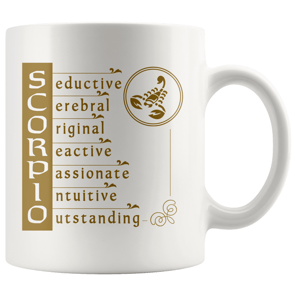 Scorpio Zodiac Coffee Mug - Constellation Coffee Cup - Great Gift For Horoscope Lover - SPCM