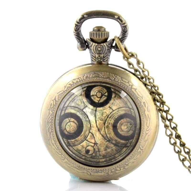 Doctor Who Quartz Pocket Watch With Necklace