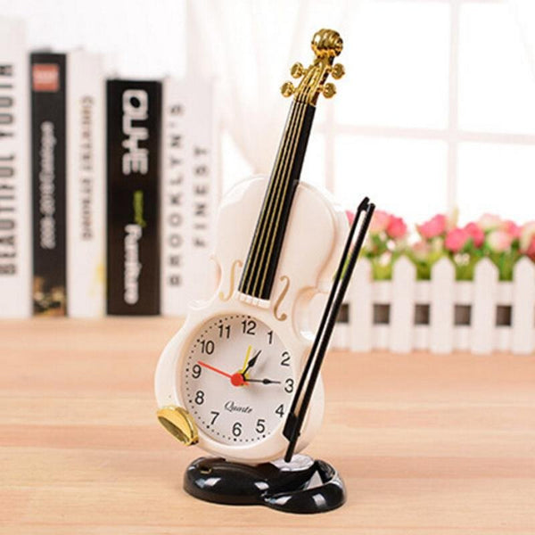 Violin Quartz Alarm Clock -