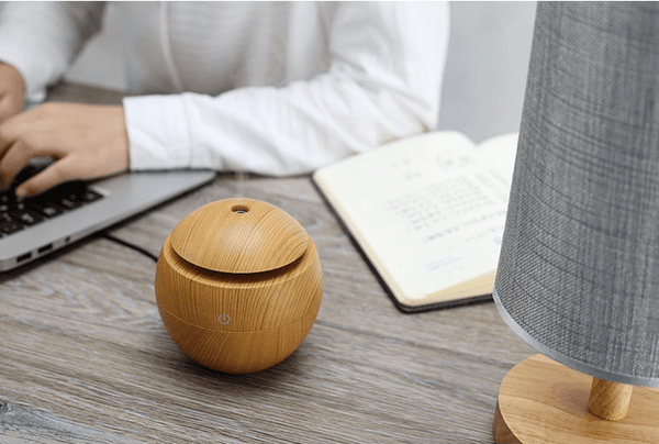 Wood Grain Aromatherapy Essential Oil Diffuser -