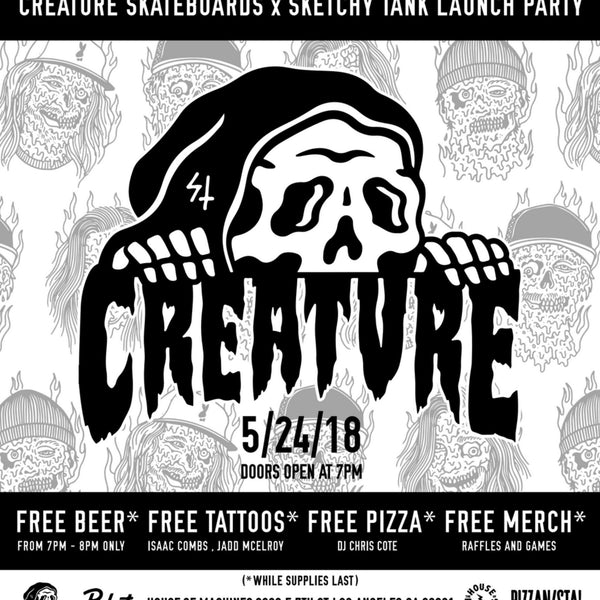 Creature X Sketchy Tank - Board Release Party