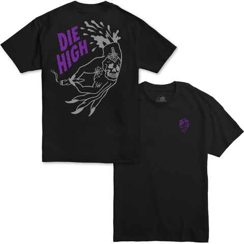 Die High Black / Purple T-Shirt | Lurking Class by Sketchy Tank