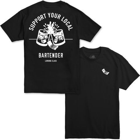 Support Your Local Bartender Tee - Black