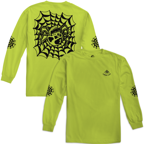 Web Safety Green Longsleeve T-Shirt | Lurking Class by Sketchy Tank