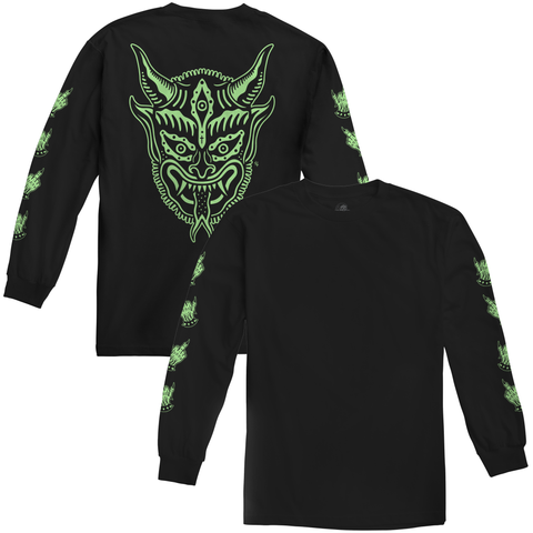 Krampus Glow In The Dark Longsleeve T-Shirt | Lurking Class by Sketchy Tank