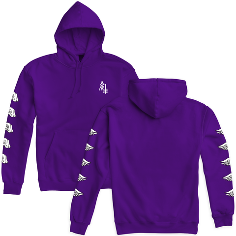 Wings Purple Pullover Hooded Sweatshirt | Lurking Class by Sketchy Tank