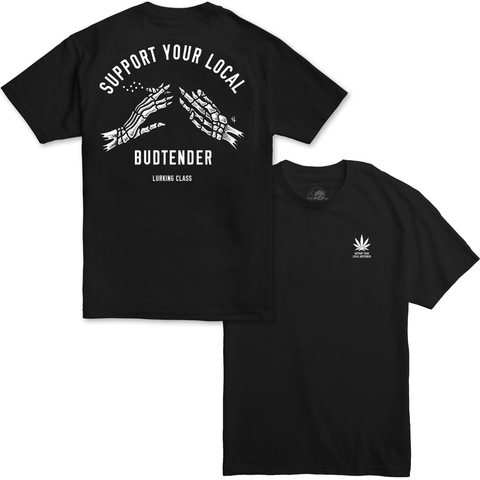 Support Your Local Budtender Tee - Black