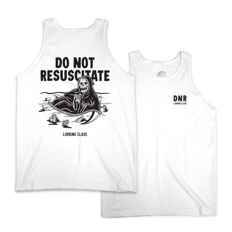 Do Not Resuscitate Tank Top - White