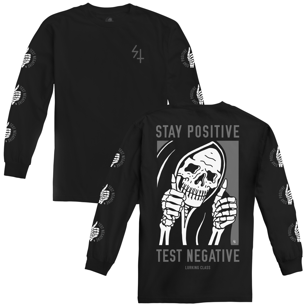 Stay Positive Longsleeve Tee - Black
