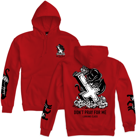 Pray Panther Pullover Hoodie - Red