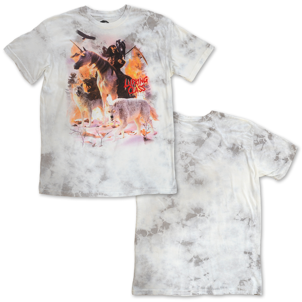 Wildlife White Tie Dye Tee