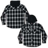 LC Hooded Flannel - Black/White