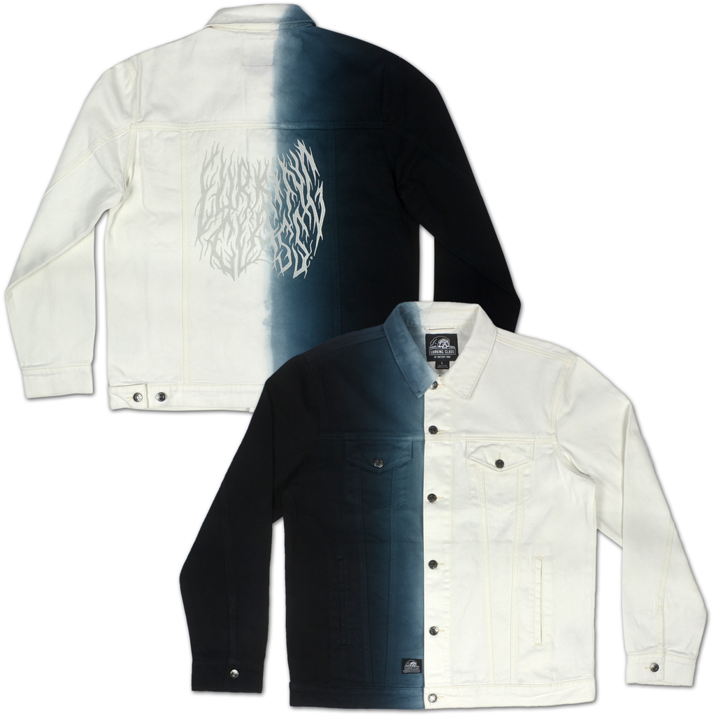 Branch Split Dye Denim Jacket - Black/White