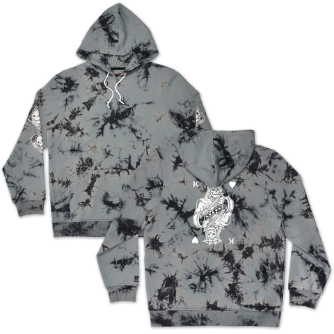 Kings Tie Dye Hoodie - Grey/Black