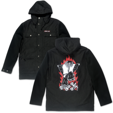 Dance Hooded Snow Jacket - Black