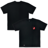 Balance Embroidered Pocket Tee - Black