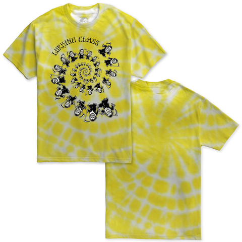 Dancing Spiral Tee - Yellow Tie Dye