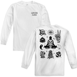 Peace Flash Long Sleeve Tee - White