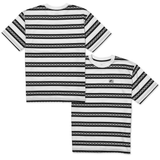 Chains AOP Striped Tee - Black/White
