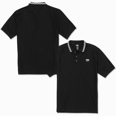 Chains Polo Shirt - Black