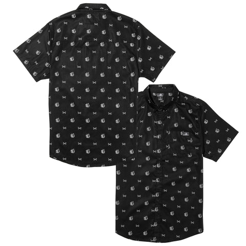 K-9 Woven Button Up SS - Black