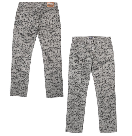 Skulls Denim - Grey