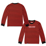 Disturbed Striped Long Sleeve Shirt - Black/Red