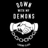 Down With My Demons Pullover Hoodie - Black